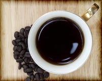 咖啡和咖啡豆 库存图片