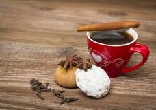 咖啡和姜饼 库存图片