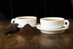 咖啡和巧克力 免版税库存图片