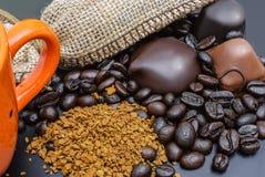 咖啡和巧克力 免版税图库摄影