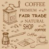 咖啡和巧克力 免版税库存照片