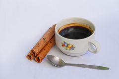 咖啡和快餐 免版税库存图片