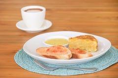 咖啡和早餐 图库摄影