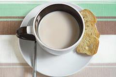 咖啡和早餐 免版税库存照片