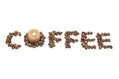 咖啡和曲奇饼 库存图片