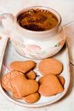 咖啡和曲奇饼 图库摄影