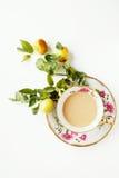 咖啡和果子 免版税库存照片