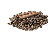 咖啡和桂香 免版税库存图片