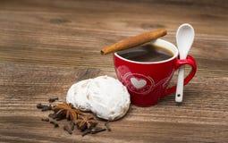 咖啡和沙漠 免版税图库摄影