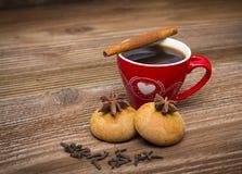 咖啡和沙漠 免版税库存照片