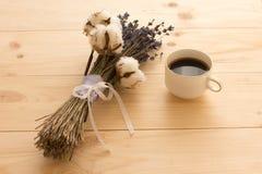 咖啡和淡紫色 免版税图库摄影
