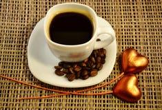 咖啡和爱 免版税库存图片