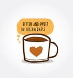 咖啡和爱 库存照片