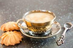 咖啡和糖果 免版税库存图片