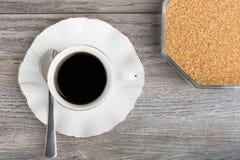 咖啡和糖罐 免版税图库摄影