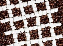 咖啡和糖静物画  库存图片