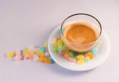 咖啡和糖 免版税图库摄影