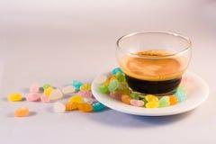 咖啡和糖 免版税库存照片