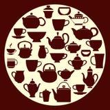 咖啡和茶-例证 免版税库存照片