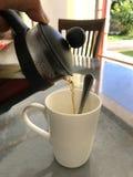 咖啡和茶Infuser 免版税库存图片