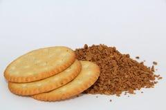咖啡和薄脆饼干 免版税库存照片