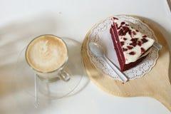 咖啡和蛋糕 库存照片