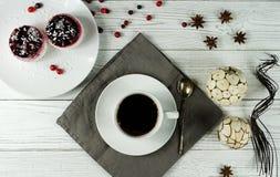 咖啡和蛋糕 免版税库存图片