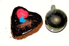 咖啡和蛋糕 免版税图库摄影