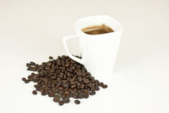 咖啡和豆 库存照片