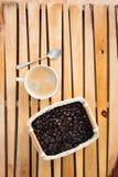 咖啡和豆 免版税库存照片