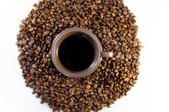 咖啡和豆 库存图片