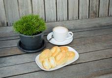 咖啡和面包店 图库摄影