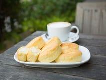 咖啡和面包店 免版税图库摄影