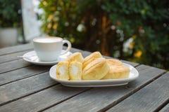 咖啡和面包店 免版税库存照片