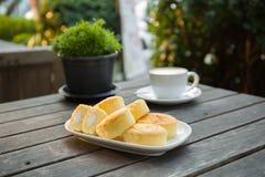 咖啡和面包店 库存照片