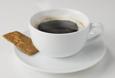 咖啡和饼干 免版税库存照片