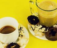 咖啡和饼干 库存图片