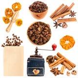 咖啡和香料 库存图片
