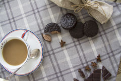 咖啡和choco背景05 库存图片
