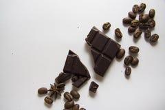 咖啡和choco背景03 免版税库存照片