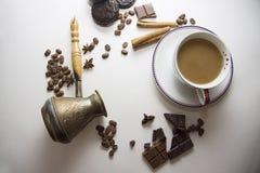 咖啡和choco背景34 免版税库存图片