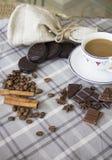 咖啡和choco背景31 免版税图库摄影