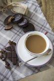 咖啡和choco背景16 免版税库存照片
