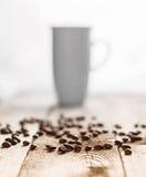 咖啡和cofee豆 图库摄影
