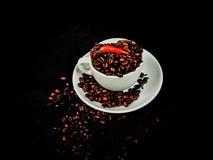 咖啡咖啡因咖啡馆豆棕色芳香 库存图片