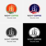 咖啡商标模板 皇族释放例证