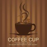咖啡商标 免版税库存图片