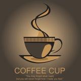 咖啡商标 免版税图库摄影