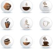咖啡图标 免版税库存照片