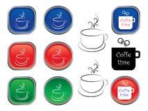 咖啡图标 免版税库存图片